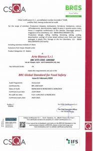 Certificazione BRC e IFS